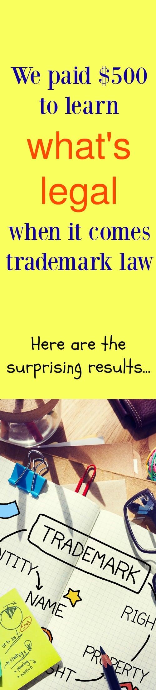 Trademark law advice