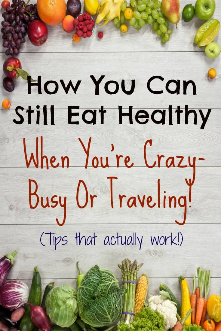 Eating healthy when traveling or busy can be a HUGE headache. This podcast has lots of helpful tips I'd actually do. #3 is my favorite.