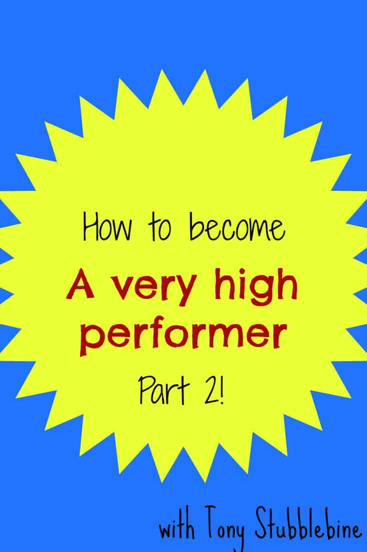 Want to become a high performer? This guy gives GREAT tips!