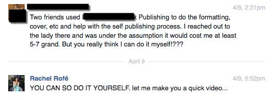 Self publishing is awesome.