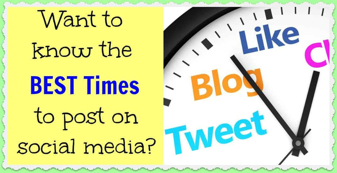 Want to know the best times to post on social media? Drumroll please…