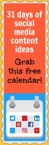 Wouldn't you love a social media content calendar letting you know what to post each day?