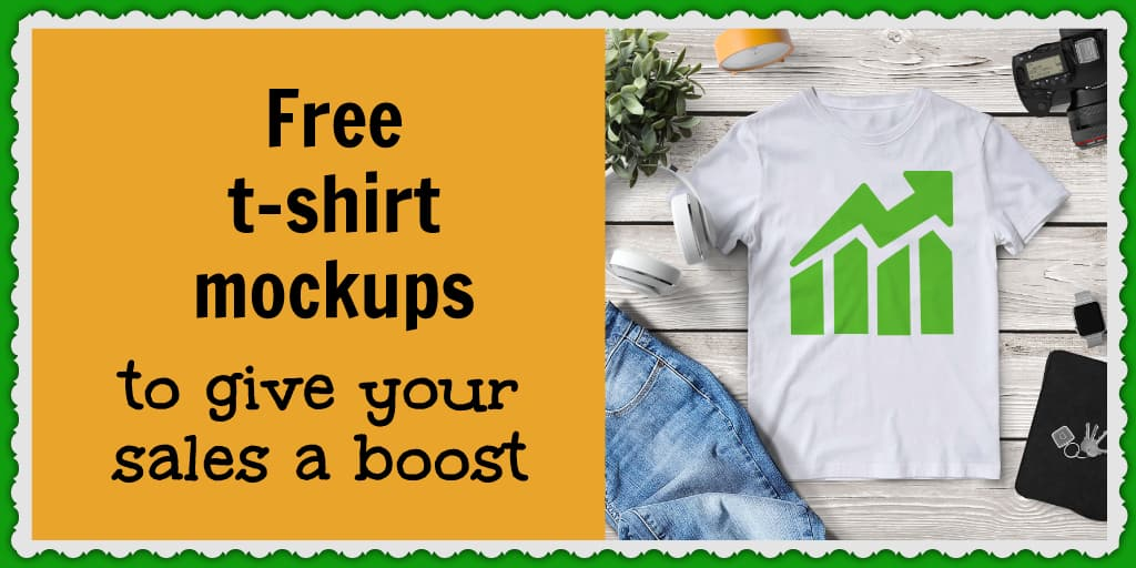 Increase your ecommerce sales with these free t-shirt mockups