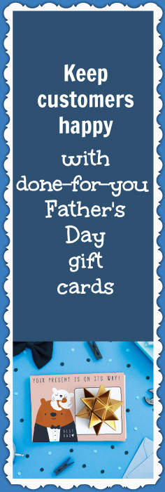 Done-for-you Father's Day gift cards to help you save more of your ecommerce sales